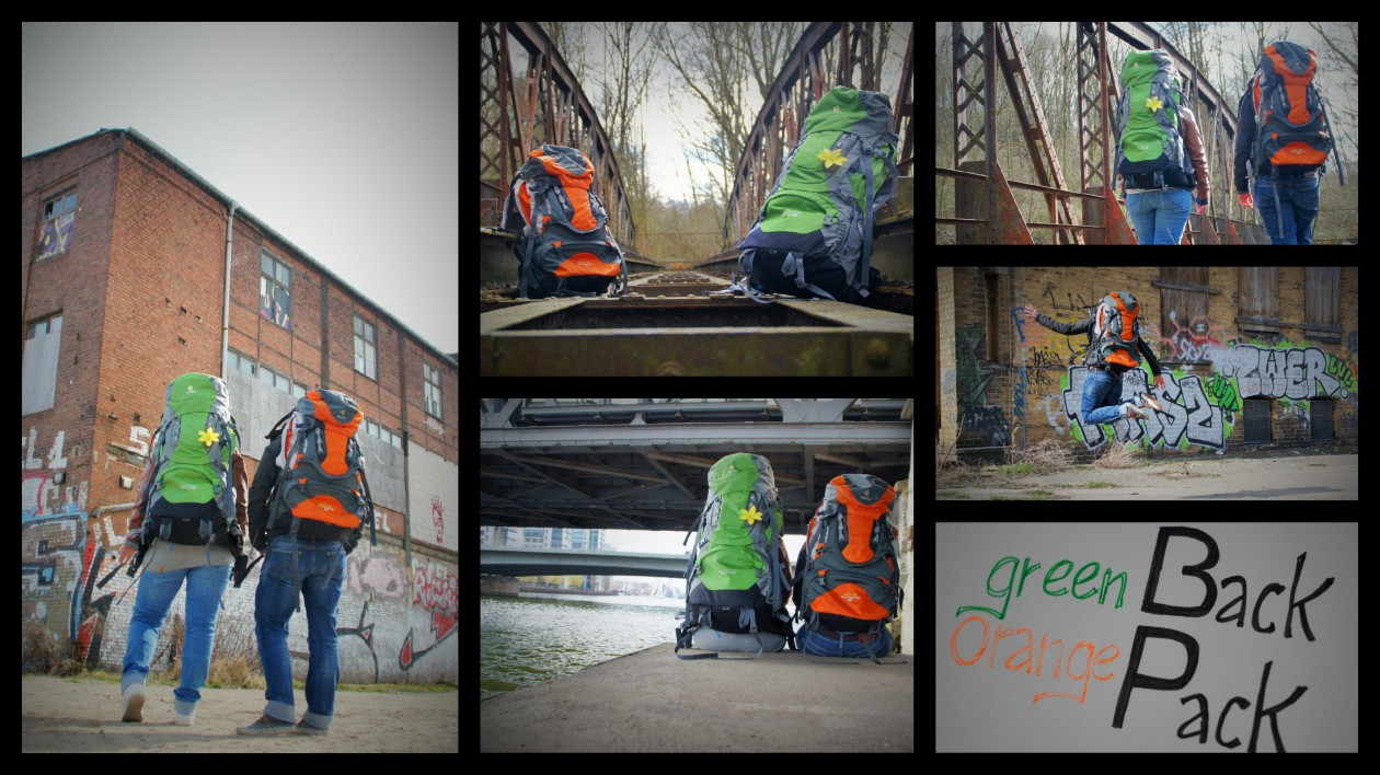 In grün und orange um die Welt.
