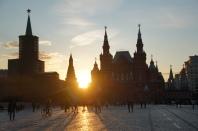 Sonnenuntergang roter Platz Moskau