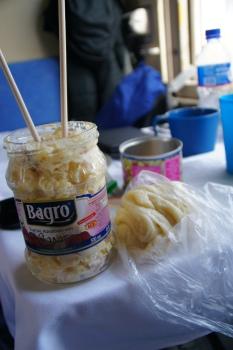 mongolisches Essen in der Transsib