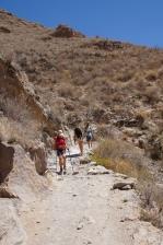Weg in den Colca Canyn nach San Juan
